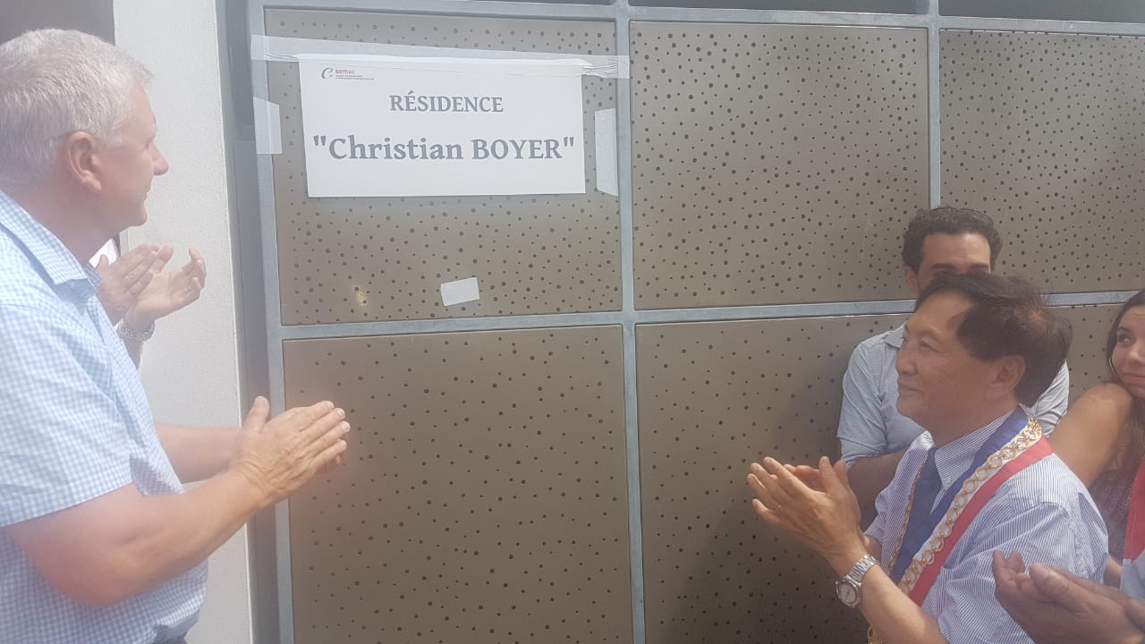 "Plaque nominative de l'immeuble ""Christian Boyer"""