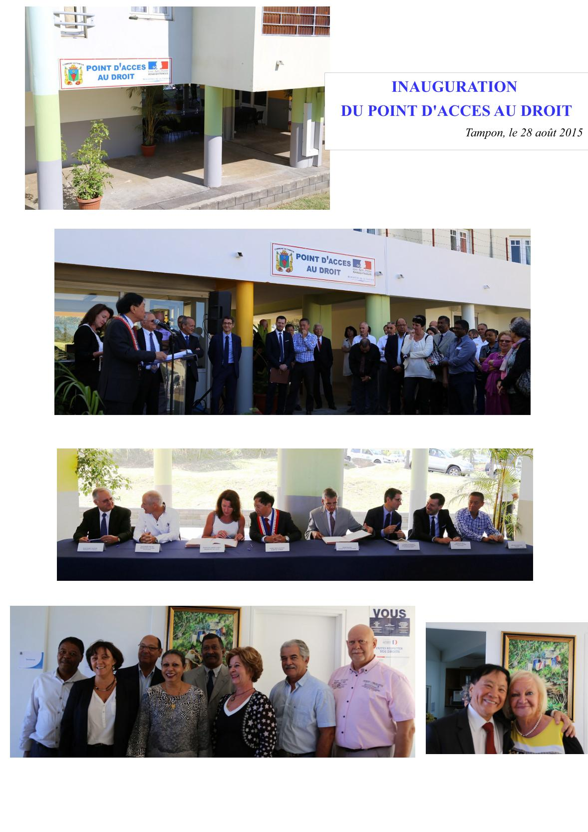 Inauguration Point dAcces au Droit
